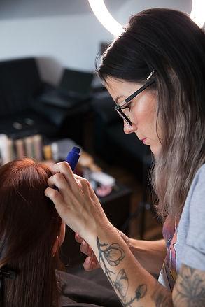 Brautstyling einer Makeup Artist