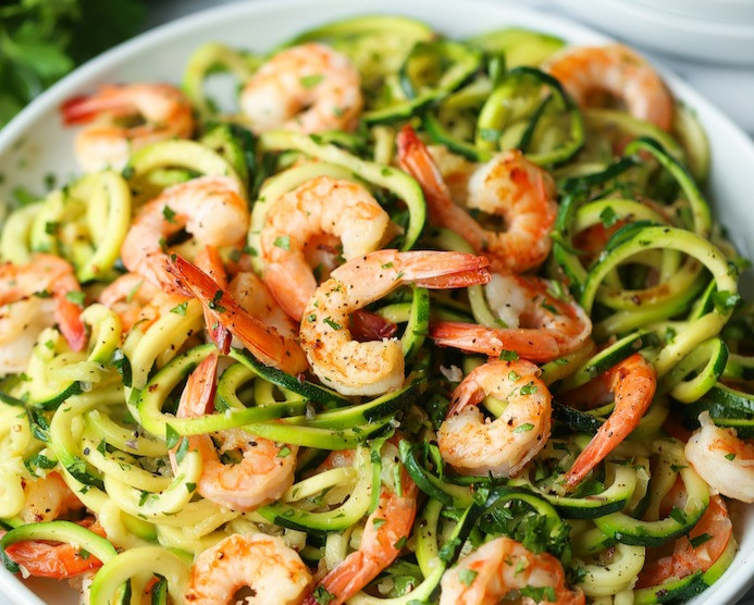 This image comes from Damn Delicious' Garlic Butter Shrimp and Zucchini Noodles, which is also yummy!
