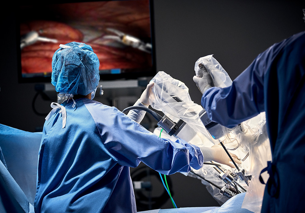 Le Da Vinci XI en salle d'opération. © Intuitive systems