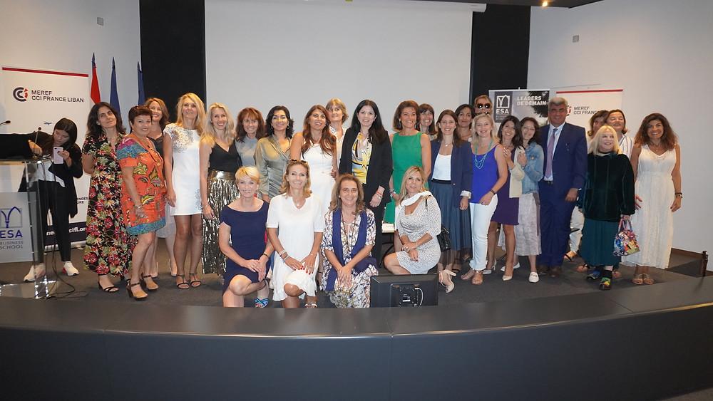 La délégation azuréenne et ses hôtes dans l'auditorium de l'ESA. © Fabrice Roy