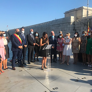 Hommage aux victimes Beyrouth 4 août 2020 Port de Nice