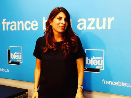 Géraldine Ghostine sur France Bleu Azur