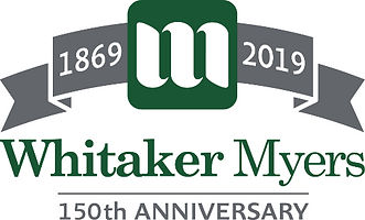 Whitaker Myers 150th Anniversary Logo _e