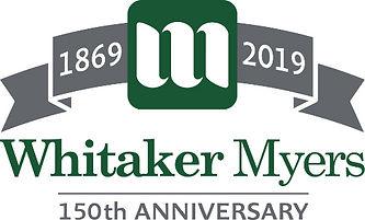 Whitaker Myers 150th Anniversary Logo _e
