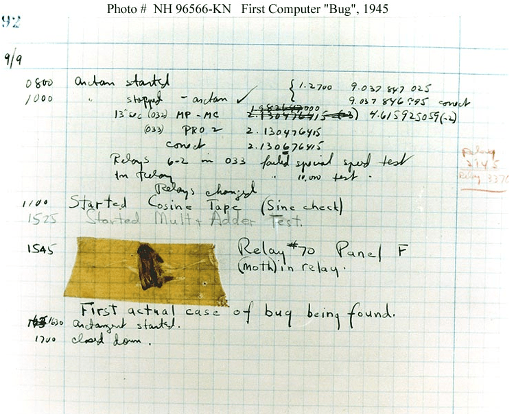 The first computer bug