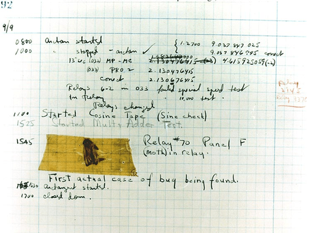 Computer bug: it all started with an actual insect