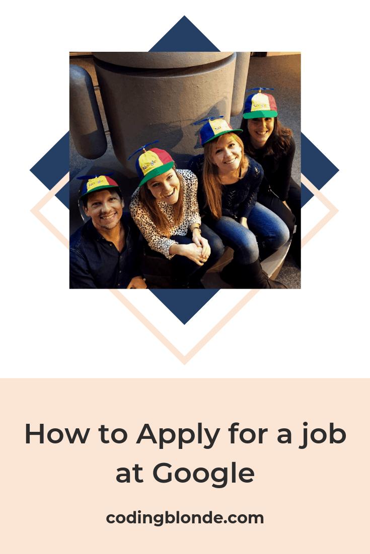 Apply for a Job at Google blog post Pinterest