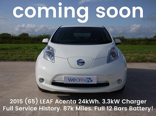2015 (65) Nissan Leaf Acenta 24kWh 87k Miles