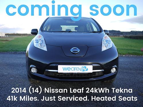 2014 (14) Nissan LEAF Tekna 24kWh 3.3kW Charger 41k Miles