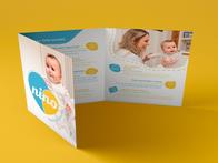 Folder Institucional desenvolvido para a Nino Pediatria.