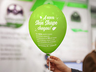 Redesign de Identidade Convite paa inauguração da Loja Skin Shape.