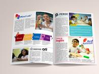 Produção da Revista do Centro Educacional Casulo.