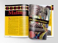 Diagramação da Revista Brasil/Angola.