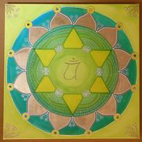 Heiles Herz Mandala Original
