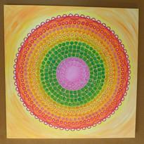 Herzkugel-Mandala Original