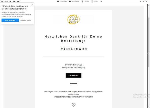 Bestellbestätigung | LebensWelten.Online
