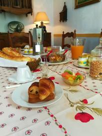 Petit déjeuner chambre d'hôtes