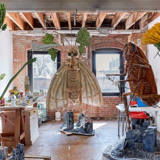 Studio at Pioneer Works, Brooklyn, New York.