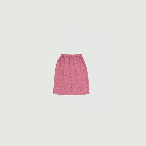 Falda rosado flores