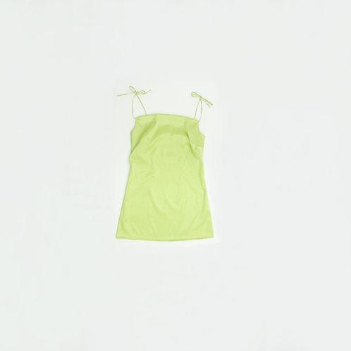 Vestido Seda Verde