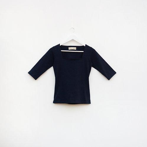 Polo Cuello Cuadrado Azul