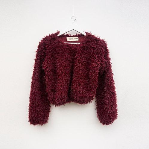 Cropped Sweater Guinda