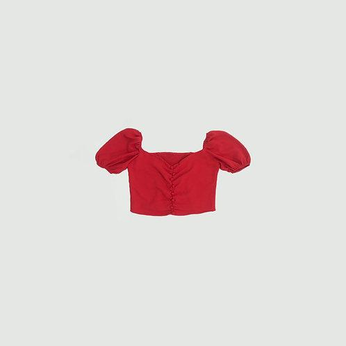 Blusa roja botones