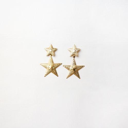 Aretes de Estrellas Dorados