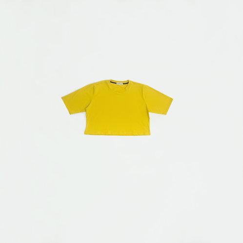 Polo Crop Amarillo