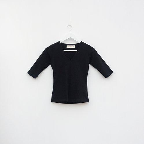 Polo Cuello V Negro