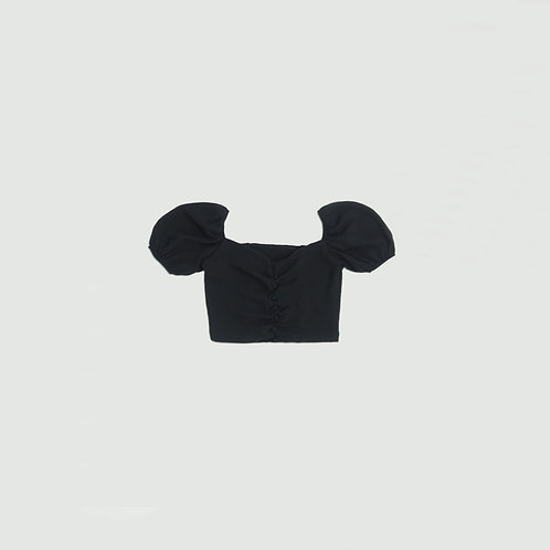 Blusa negra botones