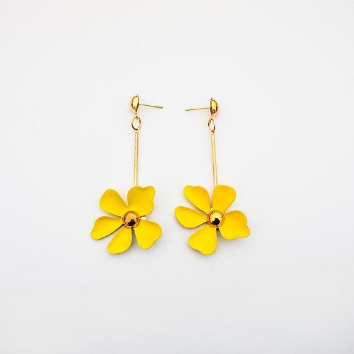 Aretes Flores Amarillo
