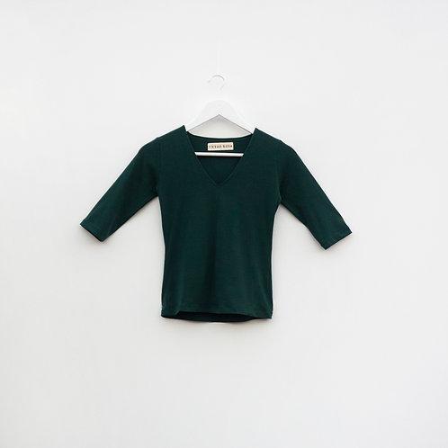 Polo Cuello V Verde