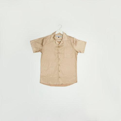 Camisa Seda Beige