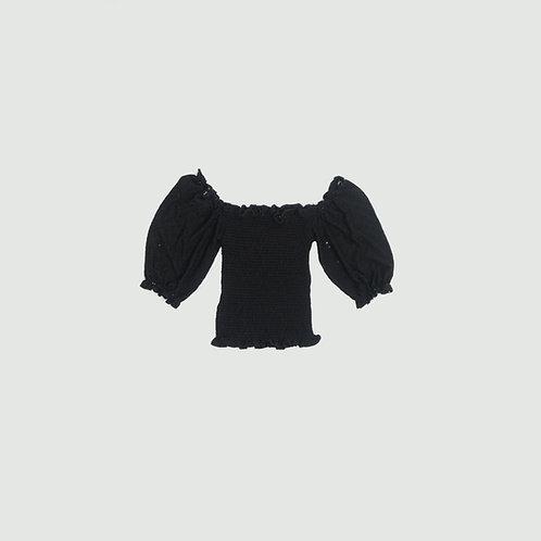 Top negro hombros bobos