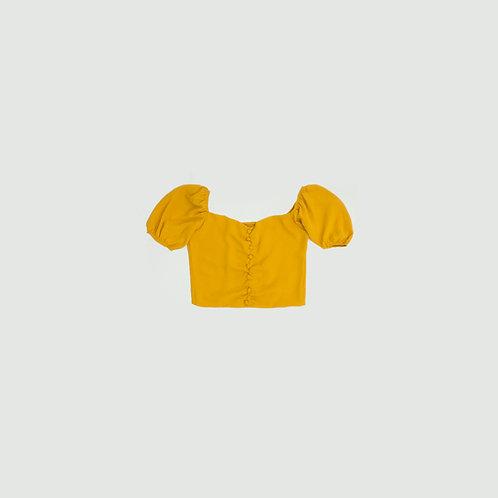 Blusa amarilla botones
