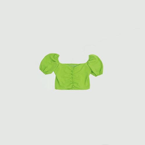 Blusa verde manzana botones