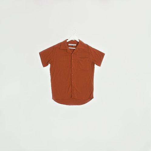 Camisa Lino Ladrillo