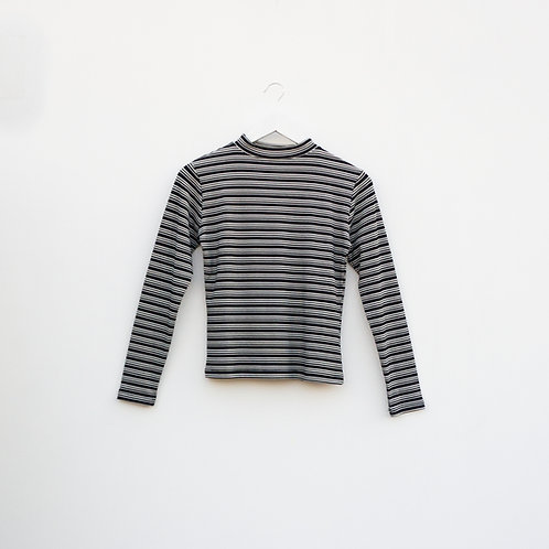 Polo Rayas Blanco/Negro