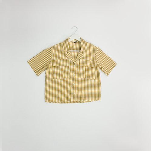 Blusa Cuadros amarillos
