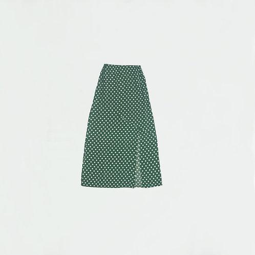 Falda Larga Verde Puntos