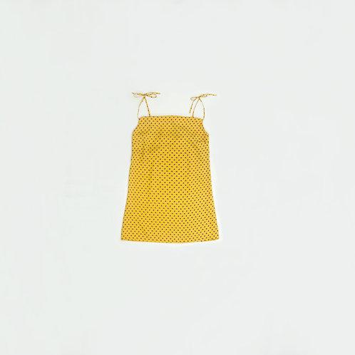 Vestido Amarillo Puntos