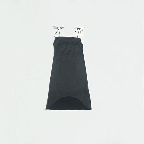 Vestido Seda Largo Negro
