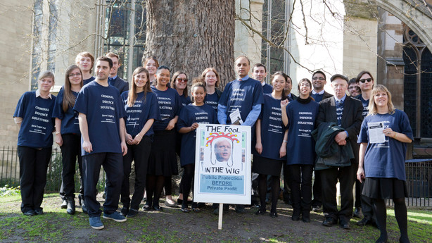 LCCSA Action and March against LA reforms- Happy Birthday Mr Grayling