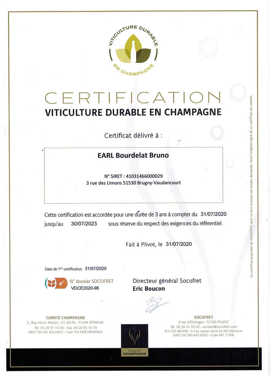 VDC CHAMPAGNE EDMOND  BOURDELAT