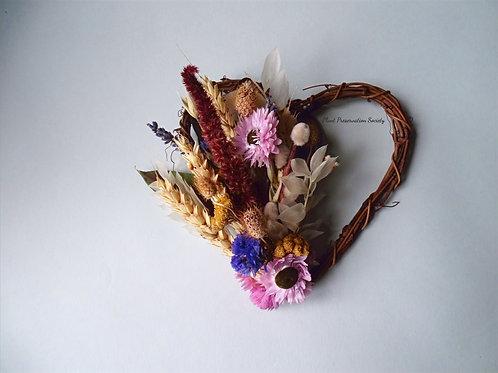 Handmade item: Small Dried Flower Heart