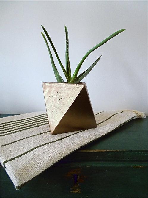 Geometric Prismatic Shaped Bronze Planter
