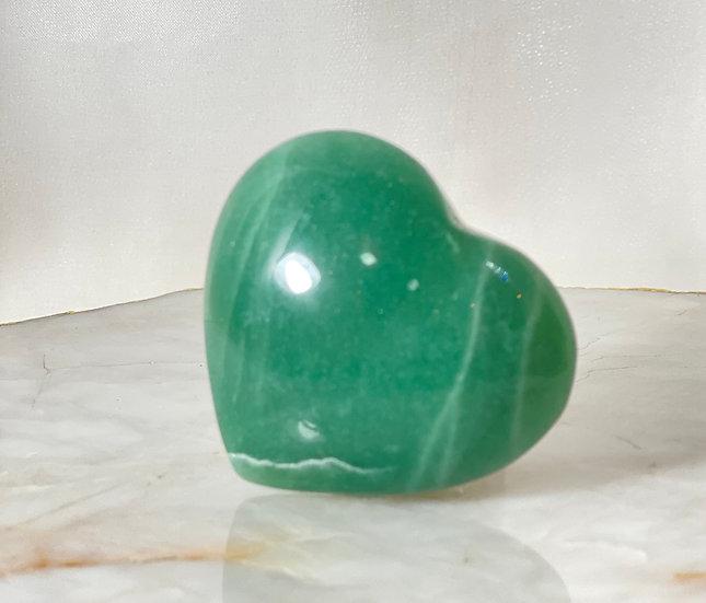 Coração de Quartzo Verde - Médio