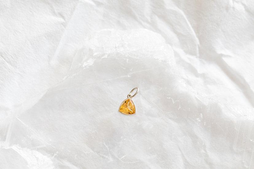Pingente Trindade Divina - Citrino - 4 mm