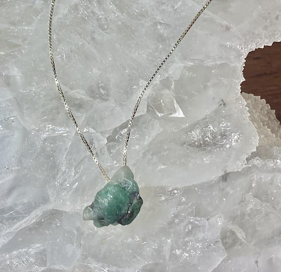 Colar esmeralda - Corrente de Prata